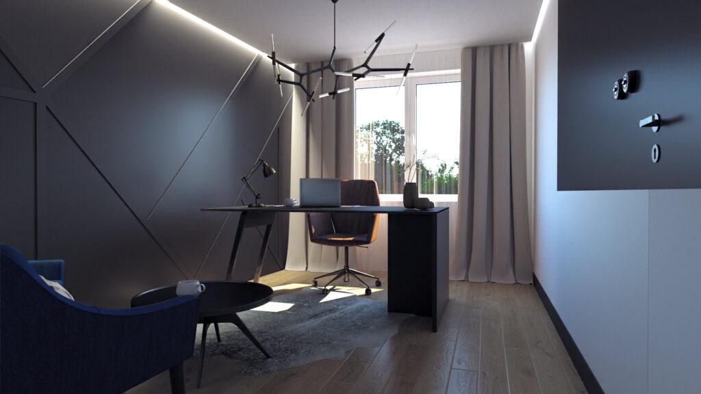 Návrh luxusní domácí kanceláře